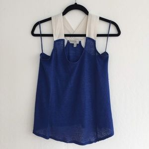 Zara Blue and White Tank Top